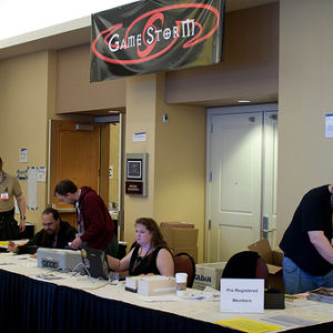 GameStorm Registration Desk